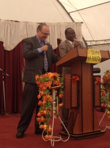Preaching in local Ethiopian church. Pastor Waiyassa translated. He is a great man of God!