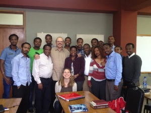 Gospel of John class at Addis Bible College.