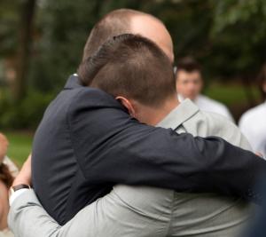 Dan hugging Jared