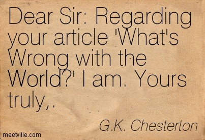 Chesterton quote