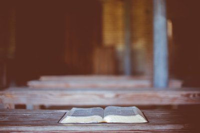 bible on bench