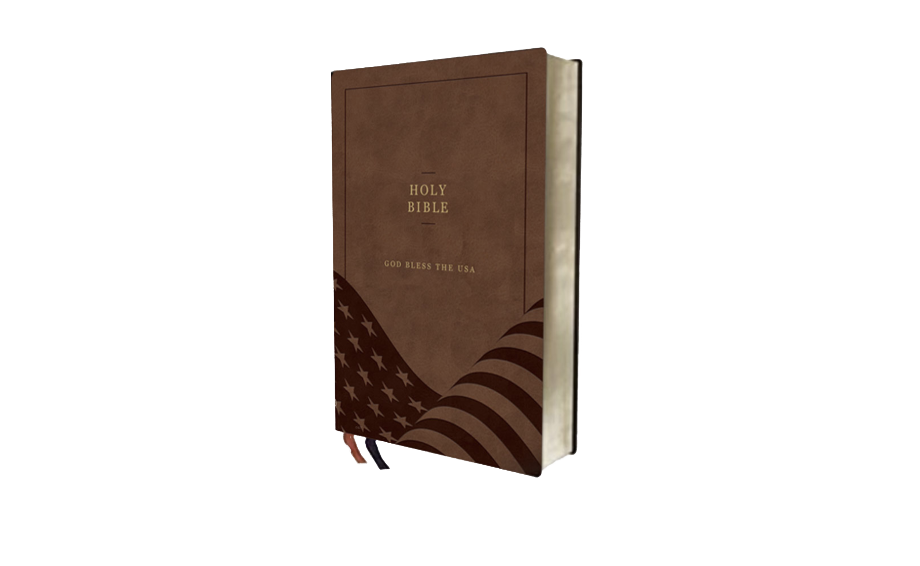 """An image of the planned """"God Bless the USA"""" Bible."""